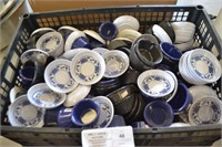 ASSORTED PLASTIC SAUCE CUPS AND PLATES