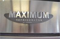 MAXIMUM, STAINLESS STEEL DOUBLE DOOR REFRIGERATOR