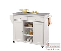 Acme Furniture Kitchen Cart - White base