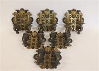 Art Nouveau Brass & Gilt Wall Sconces