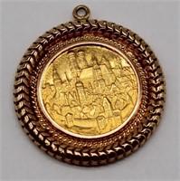 JEWELRY. Patrona Bavariae Coin 18kt Gold Pendant.