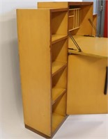 MIDCENTURY Unsigned Gilbert Rhode Desk Cabinet