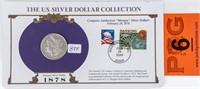 Coin 1878-P 8TF Morgan Silver Dollar in Display