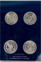 Coin 4 Morgan Silver Dollars B.U. S, P, D & O Mint