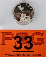 Coin 2005 Marines Commemorative Dollar Proof