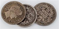 Coin  Assorted Barber Coinage Dimes & Quarters
