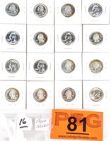 Coin  Assorted U.S. Statehood Silver Quarters.
