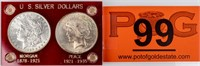 Coin United States Silver Dollars Morgan & Peace