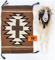 Native American Woven Sample & Tribal Mask