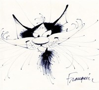 Gaston. Illustration originale Chat