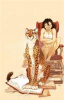 Frank. Illustration originale Manon et un guépard