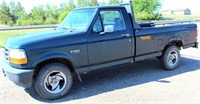 1995 Ford F-150, 5-spd trans, 2WD, 5.0 V8 gas eng, Reg Cab w/Bench Seat, Runs, 225,709 miles, has a little rust (view 1)