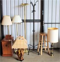 Lamps, Stool, Coat Rack
