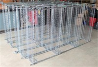 (5) Misc Wire Shelving (picture laying on thier side)