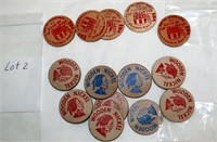 Coin Lot 2 - AAA Rocky Mtn Auto Club Wooden Nickels