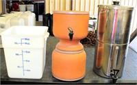 Plastic Measuring Tub, 2- Beverage Dispensers