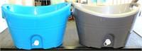 2 Plastic Tubs w/spouts