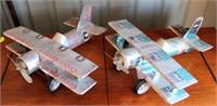 "2 ""Coors"" Handmade Model Airplanes"
