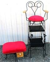 Antique Shoe Shine Chair