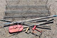 Wire Barn Shelves, Hay Hooks, Prods
