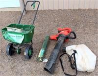 Seeder/Spreader, Roll Garden Wire, B & D Blower/Vac