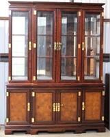 2- Pc China Cabinet, glass shelves, very nice piece