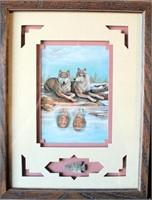 "Framed Indian Print w/Arrowhead ""Life Mates"" by BA Robers"
