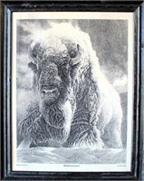 """Montana Marble Inc., Framed Marble Print of """"His Divine Presence"""" by Lee Cable 1991"""