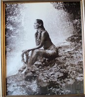 Large signed print of a Hawaiian Girl