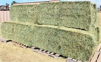 6 Bales 3x3x8, 2018 Colorado, 70% Grass/30% Alfalfa (barn stored) view from south