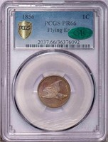 1C 1856 FLYING EAGLE. PCGS PR66 CAC
