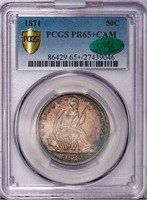 50C 1871 PCGS PR65+ CAM CAC
