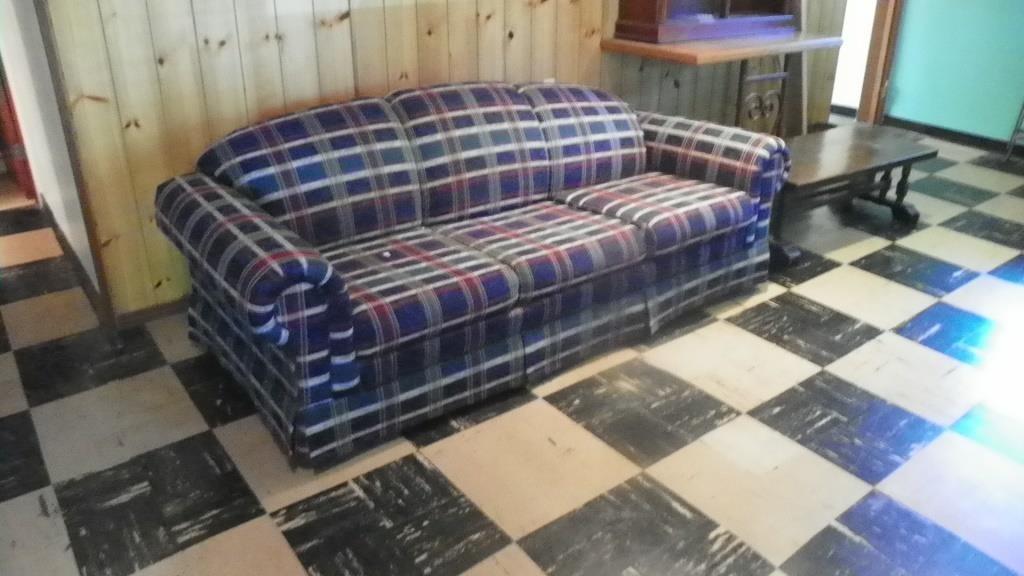 Plaid Sleeper Sofa Bill Evans Auction Service