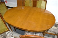 Dining Table with 6 Chairs, 3 Leaves