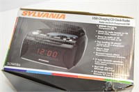 Sylvania USB Charging CD Clock Radio