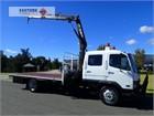 2000 Mitsubishi Fighter FK617 Crane Truck