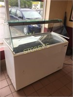 "50"" Turbo Air Sliding Top Ice Cream Freezer w/"