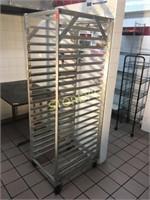 Alumin Mobile Bakers Rack - 21 x 27 x 69