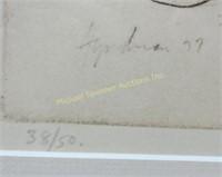 ROBERT STEWART HYNDMAN - ETCHING ON PAPER