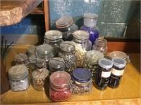 Assortment of jars