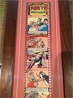 Framed Spanish Popeye cartoon