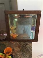 Small tiger oak mirror