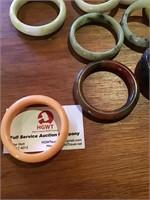 Polished stone bangles