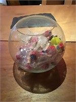 Fish bowl full of giveaway toys