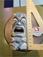 Tiki wooden mask