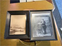 Two old photos both have condition issues