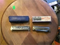 Two Hohner harmonicas