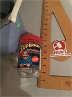 Superman peanut butter jar