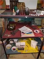 Contents of shelf (left)