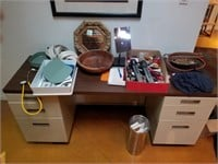 Desk and contents
